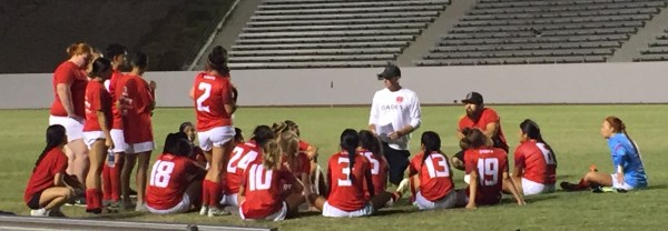 Coach Damron with students.JPG