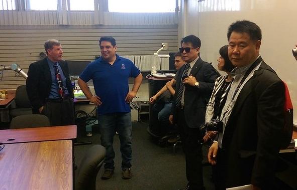 John Heffner with Manny Fernandez and Korean Delegation