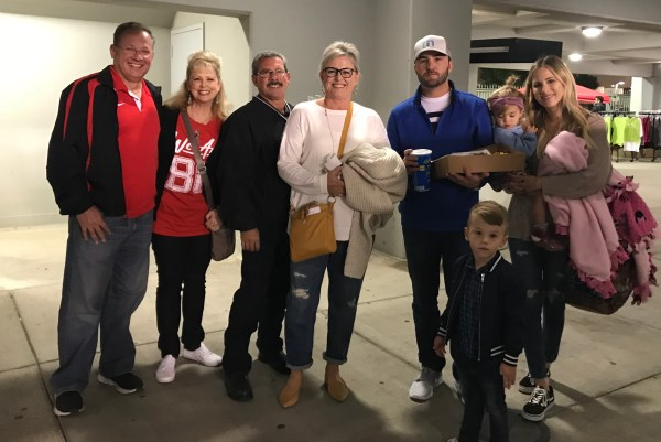 Wendy Lawson and Dena Rhoades with their families October 14 2017.jpg
