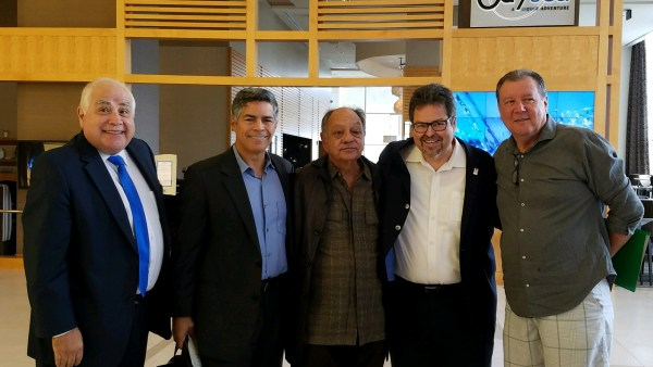 HACU Official, Esais Morales, Cheech Marin, Rick Najera, David Villarino.JPG