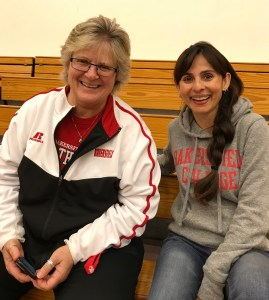 Sandi Taylor and Sonya Christian Dec 9 2017 Basketball