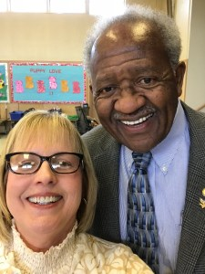 Liz Rozell and Horace Mitchell at Leadership Bakersfield Feb 16 2018