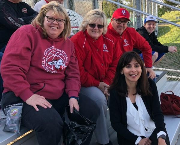 Coach Paula Dahl, Sandi Taylor, Keith Ford, Sonya Christian April 28 2018