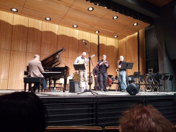 BC Faculty Jazz Ensemble with pianist Adam Benjamin (photo by Pete LeGrant)