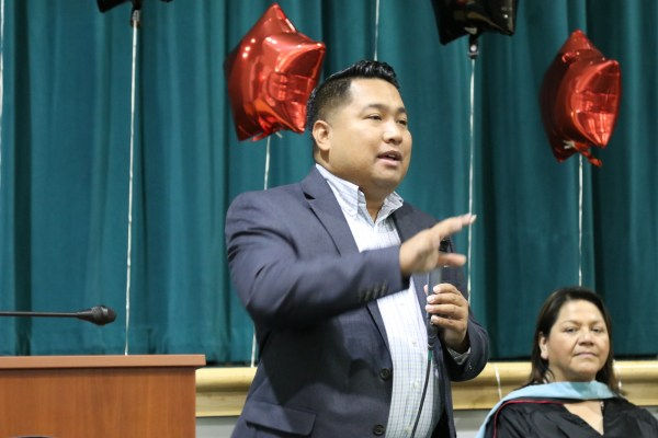 Trustee Romeo Agbalog at Delano Precommencement celebration.jpg