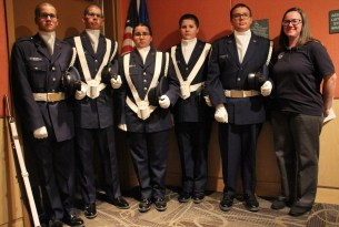 5 young cadets and their director