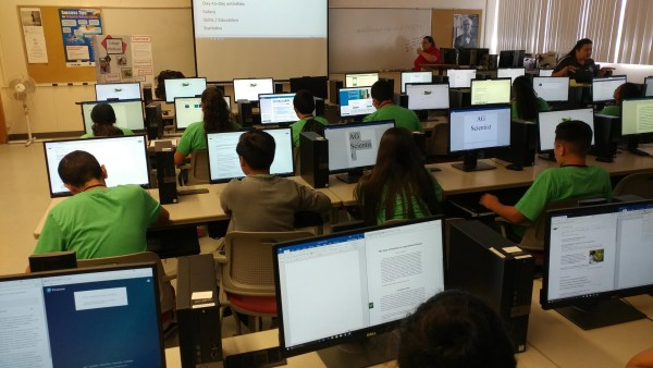 Summer Ag Camp students researching career for final project