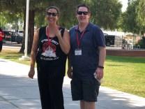 Sara Wallace and Brent Wilson