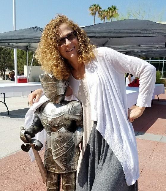 Deborah Rosenthal with Renegade Knight