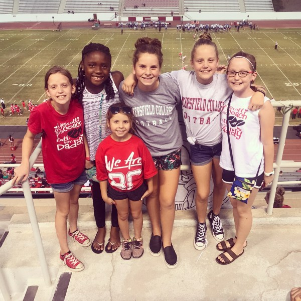 Kids at the football game Photo by Dominique Moseley Sep 15 2018.JPG
