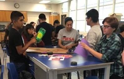 MESA students rocket activity