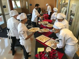 student chefs preparing the food