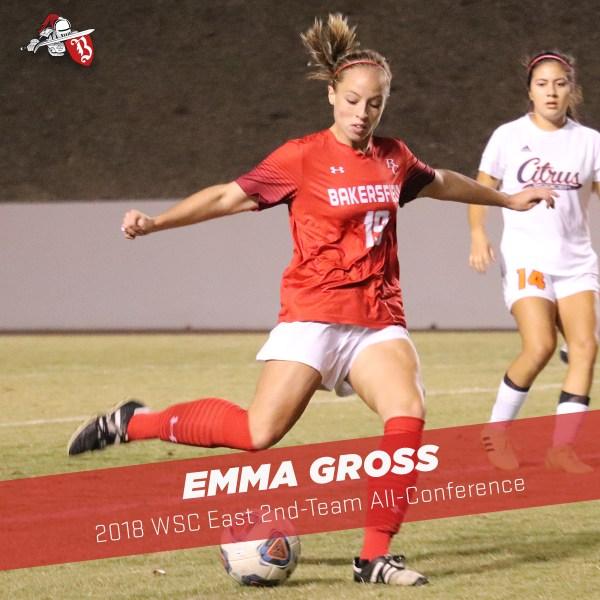 Emma Gross mid-kick