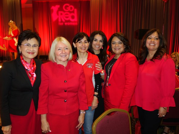 Mayor Karen Goh, Lynnette Zelezny, Sonya Christian, Beatris Espericueta-Sanders, Norma Rojas-Mora, and Lourdez Nilon