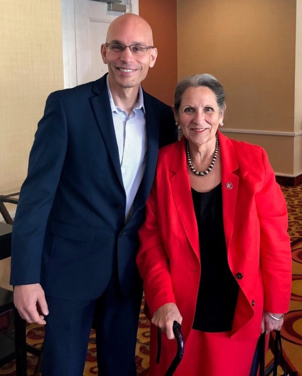 Manny Mourtzanos and Nan Gomez Heitzeberg