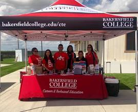 Bakersfield College tent and booth