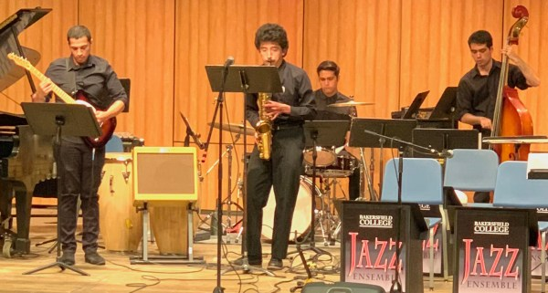 Students performing at the Jazz Spring concert