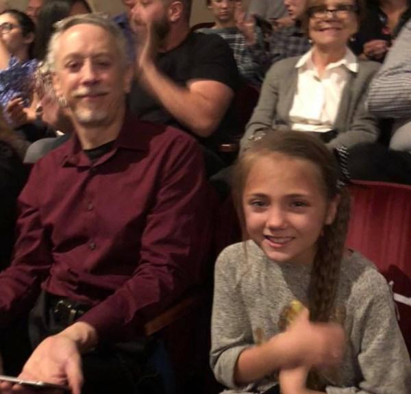 Nick Strobel with one of the Garrett's girls
