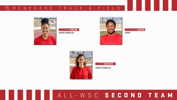 BC Renegade Track and Field Female All - WSC 2nd team portraits.