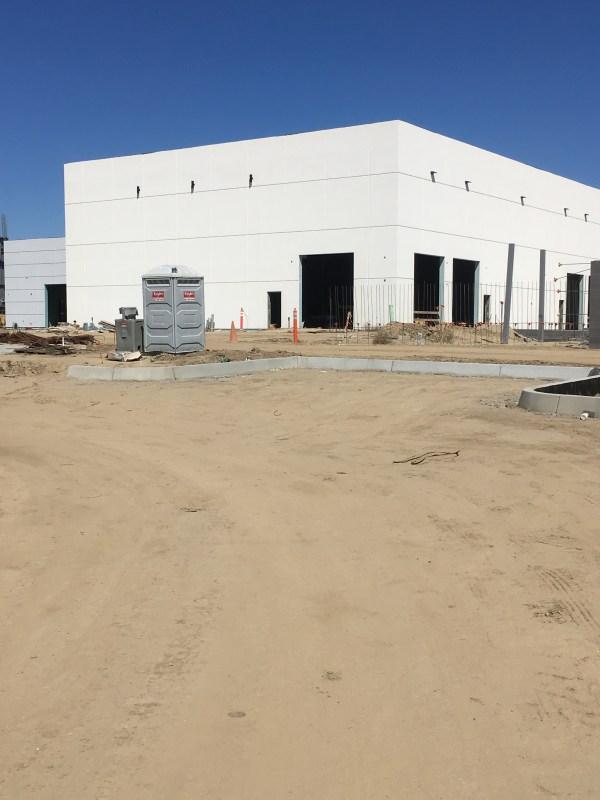 Large building under construction.