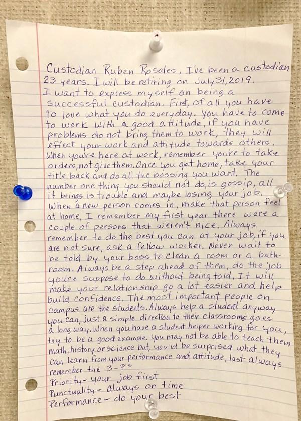 Ruben Rosales letter