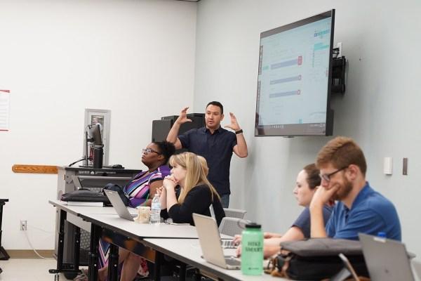 Matt Jones leads a flexweek workshop