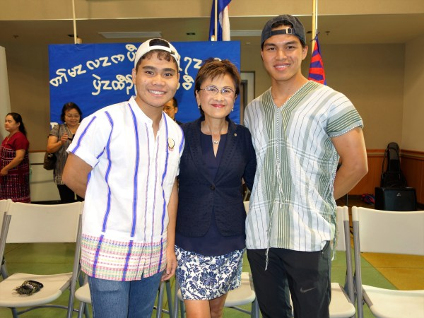 BC Students with mayor Karen Goh