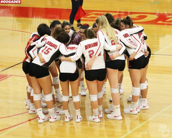 BC Volleyball huddle