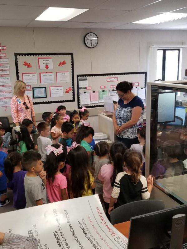 Children in the admin. area at Delano.