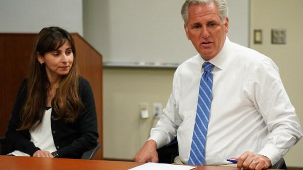 Sonya Christian and Kevin McCarthy