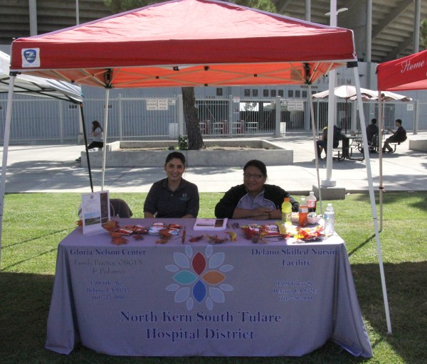 Reps from North Kern South Tulare Hospital booth.