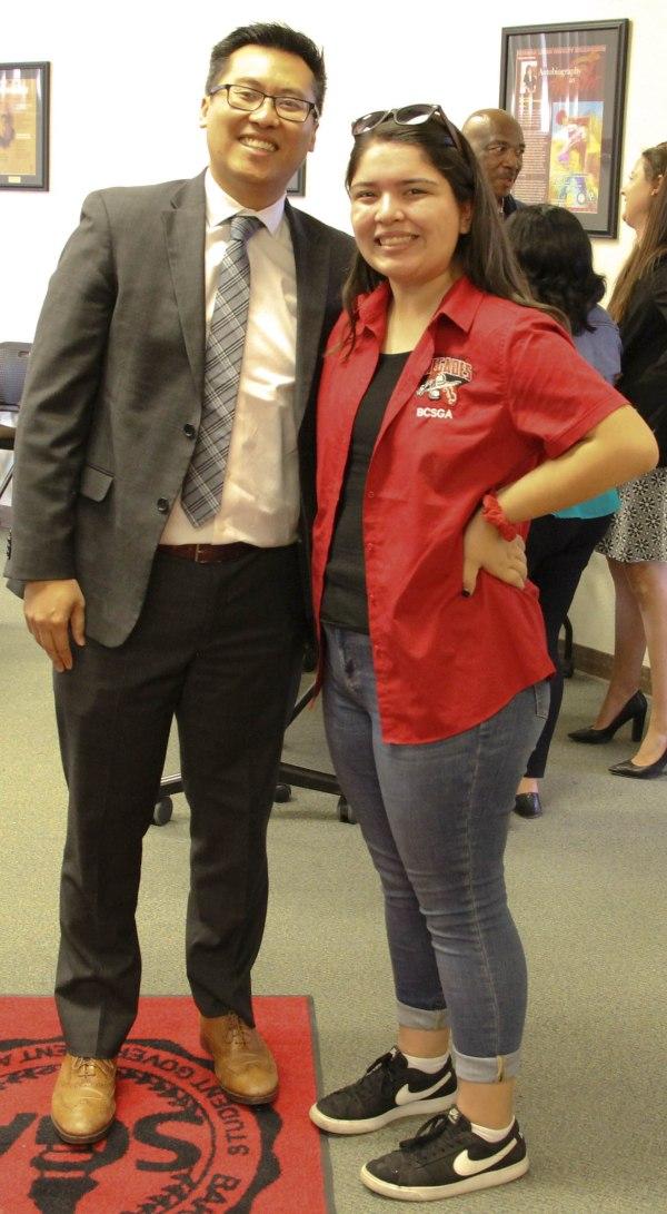Fong and BCSGA president.