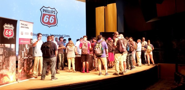 Phillips 66 presentation and students