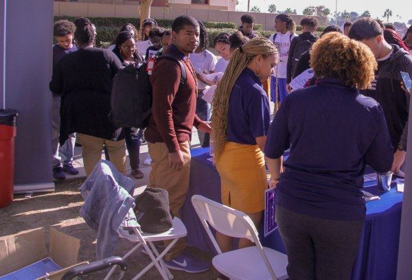 Numerous students at the event.
