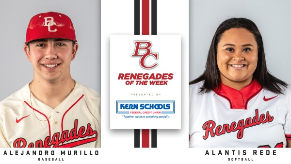BC Renegades of the Week Alejandro Murillo, baseball, and Alantis Rede, softball.