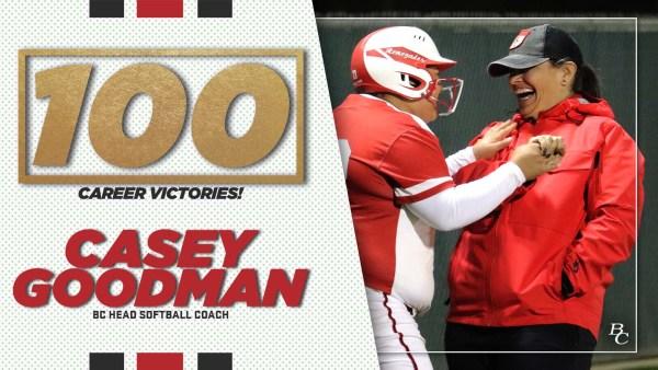 100 Career Victories! Casey Goodman, BC Head Softball Coach