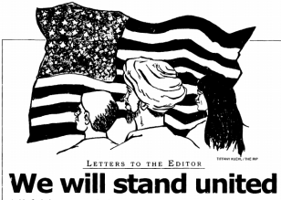 Letters to the Editor - We will stand united