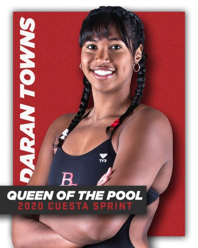 Daran Towns - Queen of the Pool at the 2020 Cuesta Sprint.