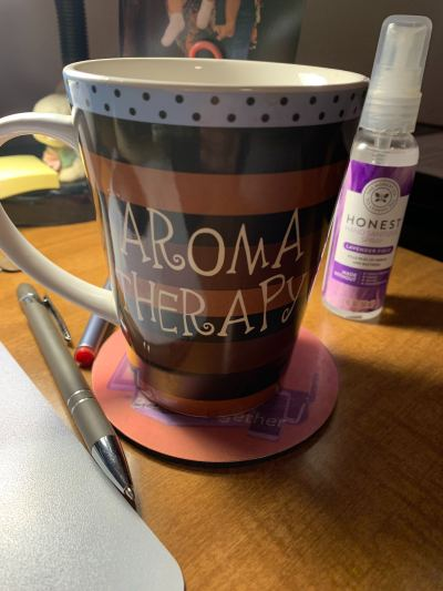 Aroma Therapy coffee cup.