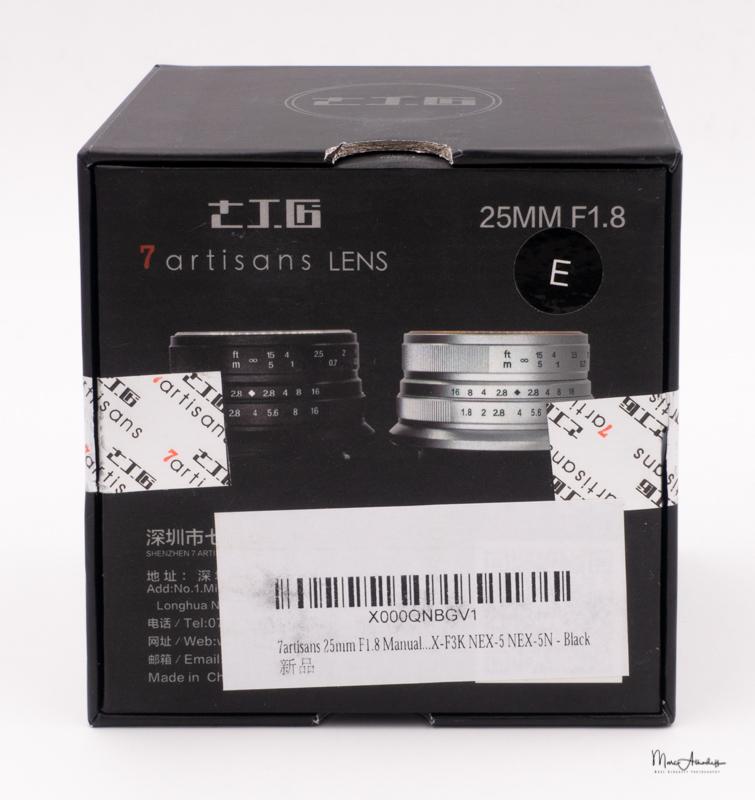 7artisans 25mm F1.8-9