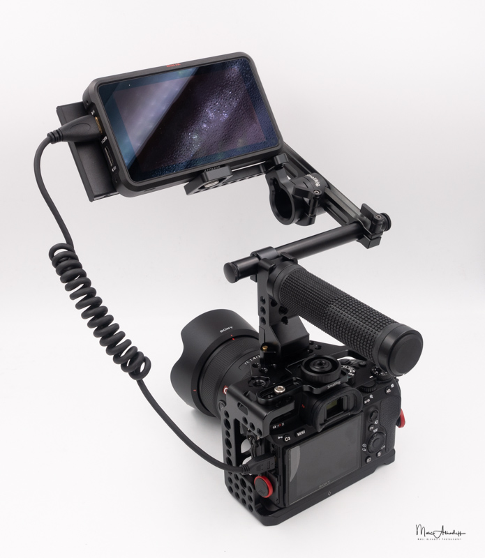 atomos ninja v, smallrig 1903 evf mount with nato rail- 006