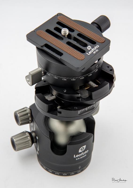 Leofoto Ballhead LH-40GR geared panning clamp-2