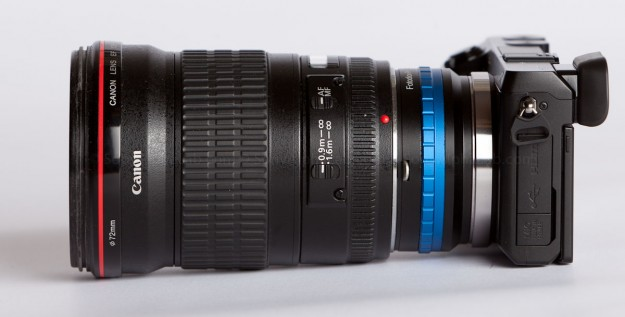 Sony Nex-7, Fotodiox Lens Adapter, Canon EF 135mm f/2 L Lens