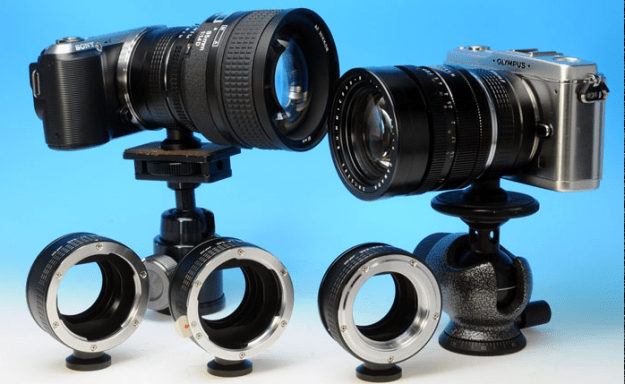 Rayqual E-mount adapters with built-in tripod mount