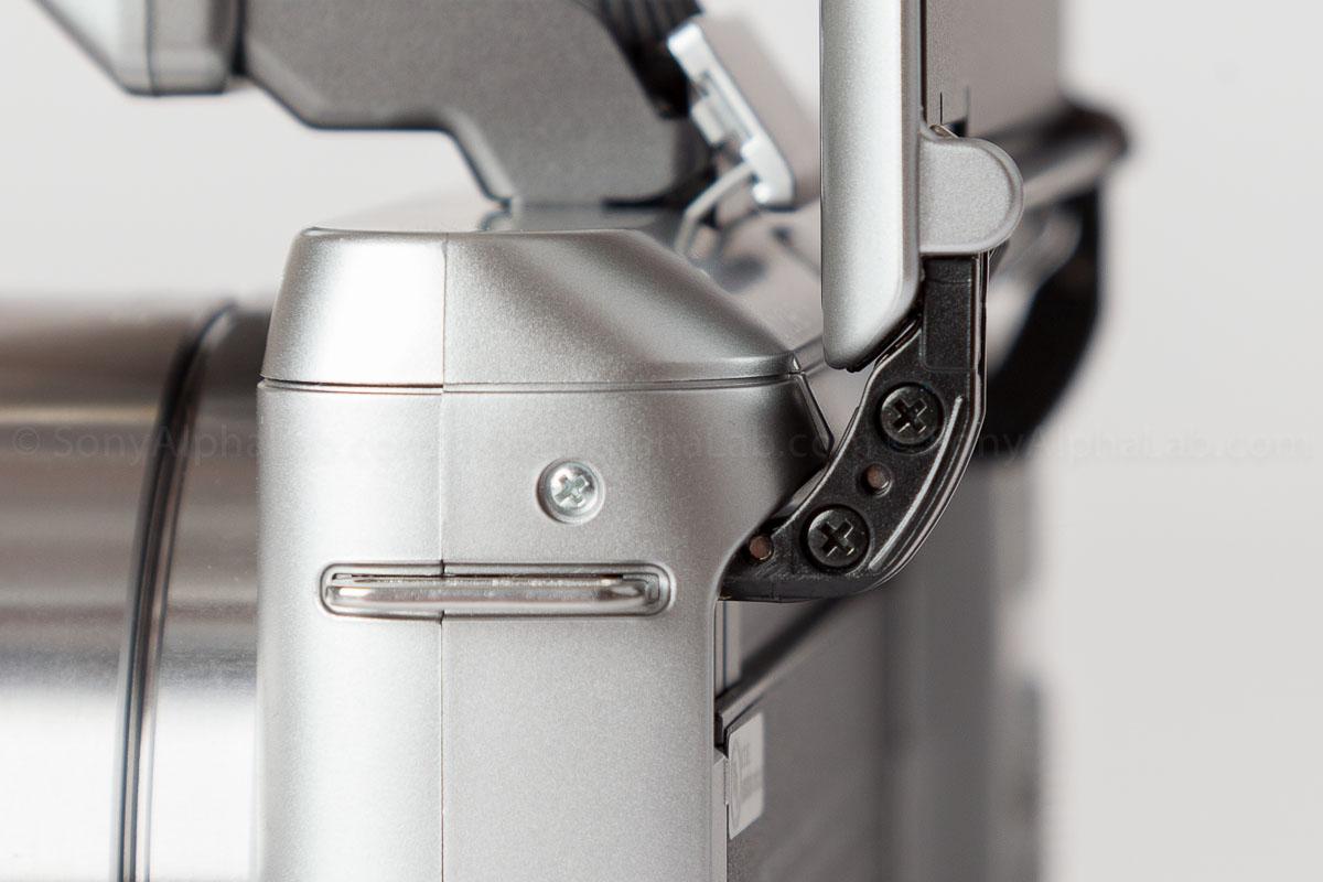Sony Nex-F3 - Flip Screen Hinged Linkage