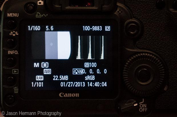 Histogram on the Calibrated Camera