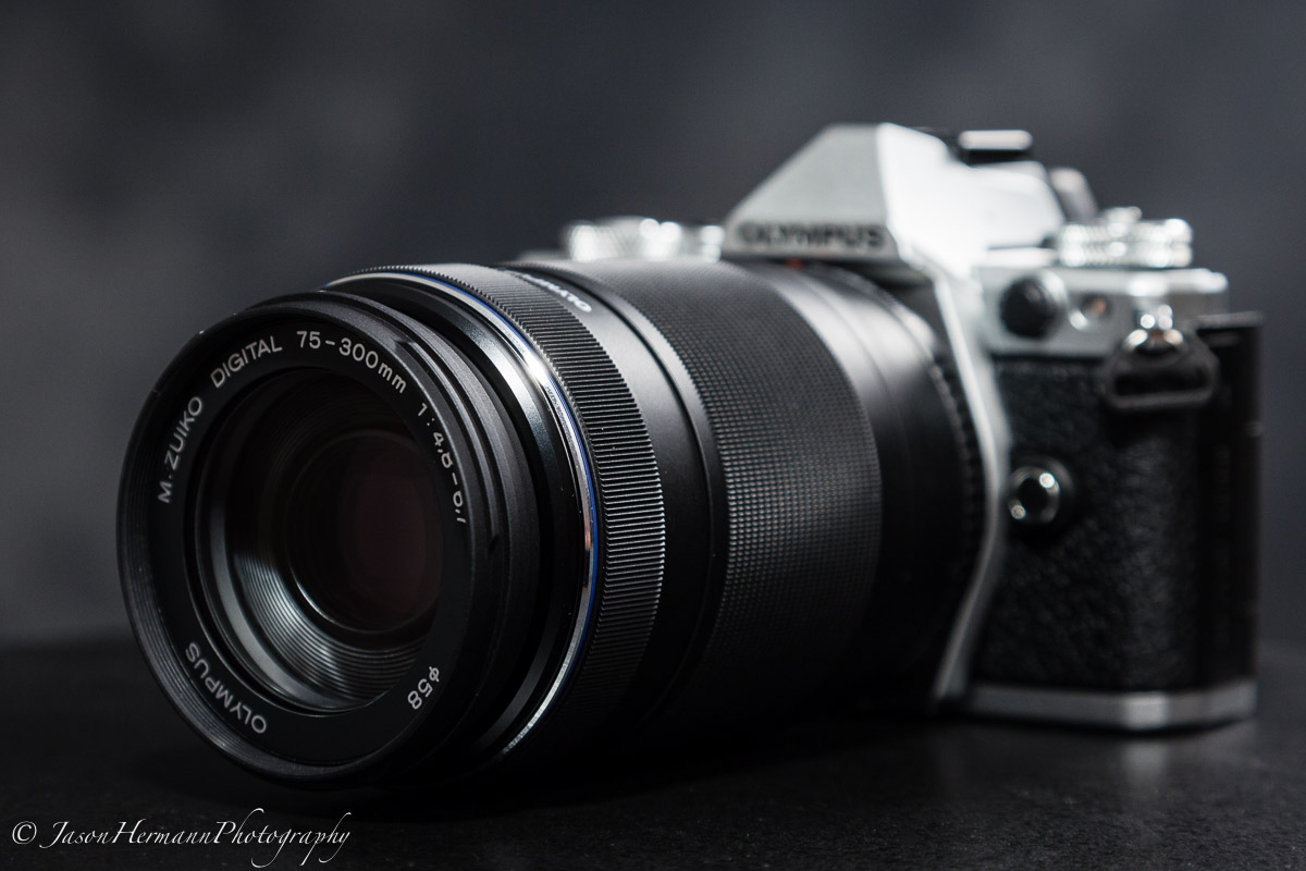 Olympus OM-D E-M5 Mark II Mirrorless Camera w/ 75-300mm Lens