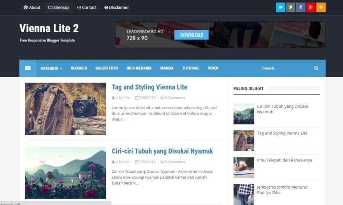 top 25 template blogspot mien phi tot nhat - Template 10