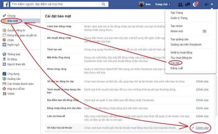 Cach xoa tai khoan facebook tam thoi hoac xoa vinh vien - Anh 2