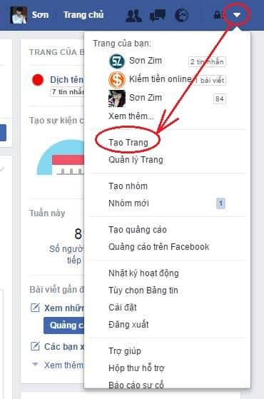 Cách tạo Fanpage Facebook - Bước 2